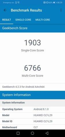 Huawei P20 Pro Geekbench 4