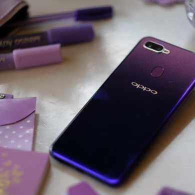OPPO F9 starry purple prop