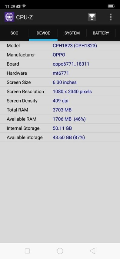 Oppo F9 CPU Z (3)