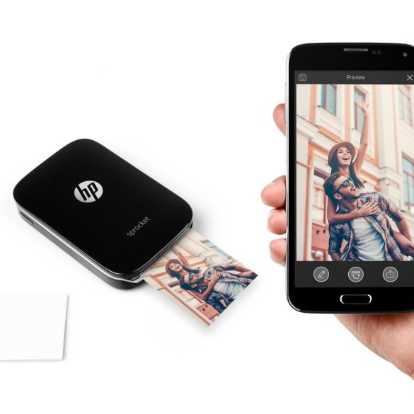 hp sprocket mobile photo printer with app
