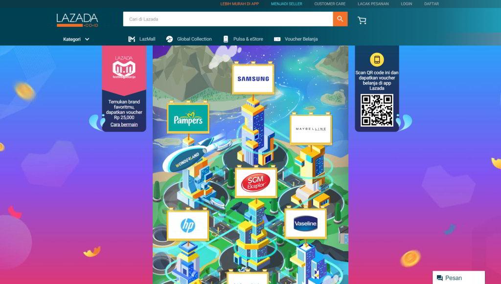 Wonderland Lazada Game Seru Untuk Mendapatkan Voucher Belanja Di