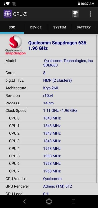 Asus ZenFone Max Pro M2 CPU Z (2)