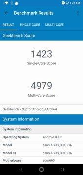 Asus ZenFone Max Pro M2 Geekbench