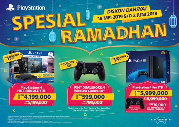 Promo Spesial Ramadan Playstation 4, Tawarkan Potongan Harga hingga 1 juta Rupiah