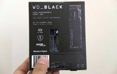 WD Black SN750 NVME SSD box