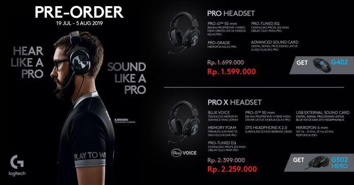 Logitech G Indonesia Buka Pre Order Pro X Headset dan Pro Headset, Harganya Mulai Sejutaan Rupiah 1