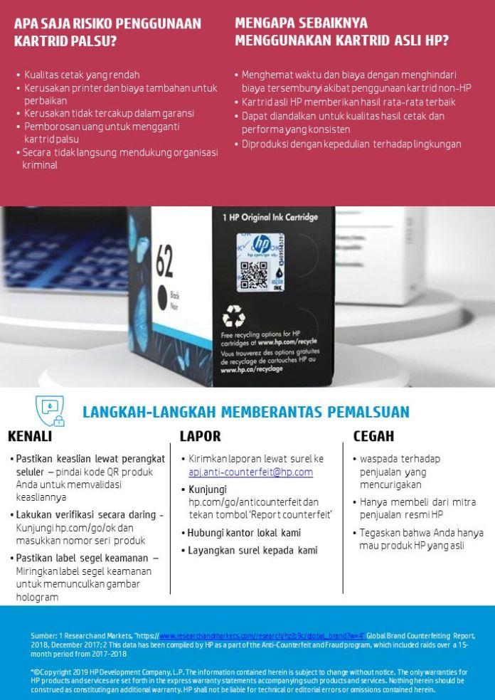 HP Memerangi Tinta & Toner Palsu di Asia Tenggara dengan Program ACF