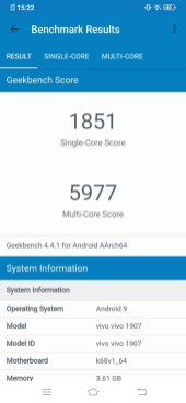 Vivo S1 Geekbench