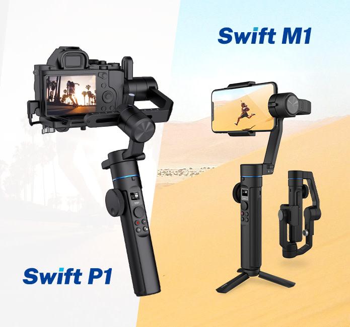 Sirui Swift M1 dan P1: Gimbal Terjangkau untuk Smartphone dan Kamera Mirrorless