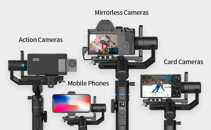 Sirui Swift M1 dan P1: Gimbal Terjangkau untuk Smartphone dan Kamera Mirrorless 3