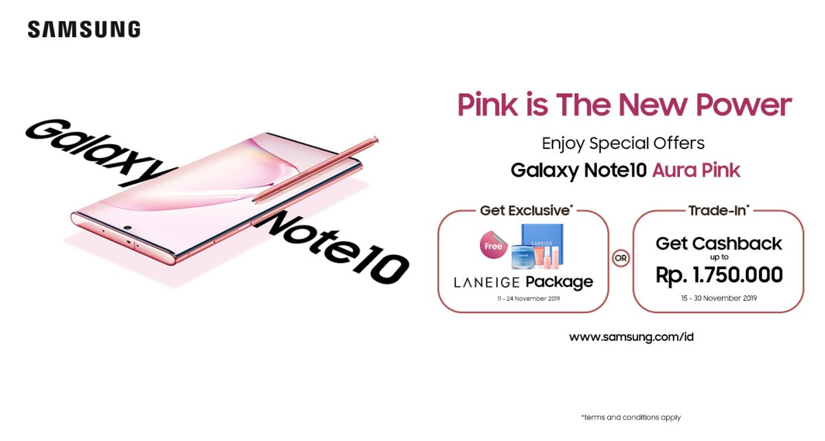Galaxy Note10 Aura Pink Promo Horizontal