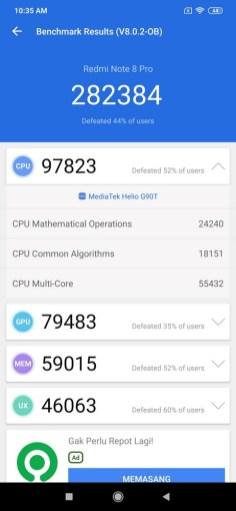 Redmi Note 8 Pro Antutu8