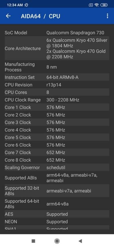 Xiaomi Mi Note 10 Pro AIDA64 (2)