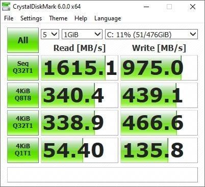 CrystakDiskMark Asus vivobook s14 s433
