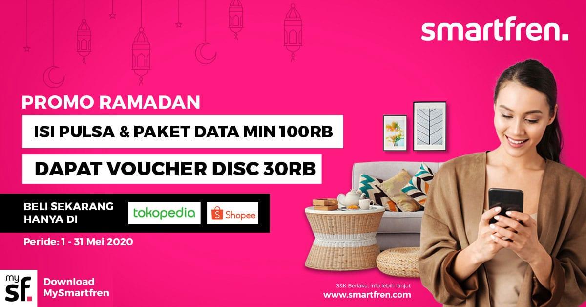 Jelang Lebaran, Smartfren Berikan Bonus Kuota Data dan Voucher Diskon Isi Ulang 18 operator, Smartfren
