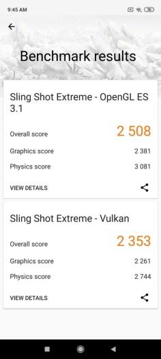Redmi Note 9 Pro 3D Mark