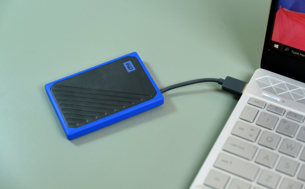wd my passport go ssd to pc
