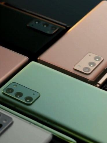 Pilihan warna Galaxy Note20