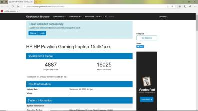 benchmark HP Pavilion Gaming 15 dk0043tx-11