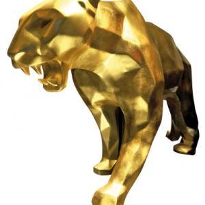 Panther Born Wild Gold by Richard Orlinski
