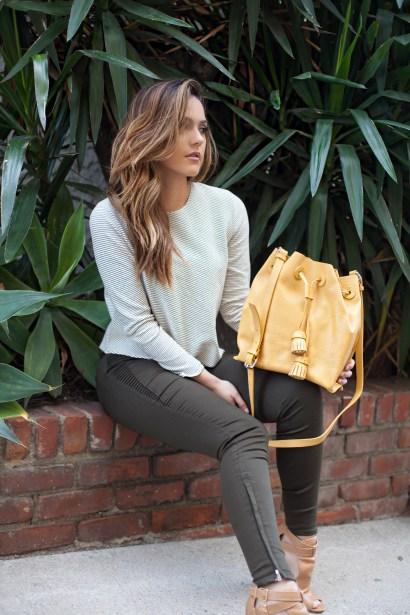 Zara - Yellow Tasselled Bucket Bag