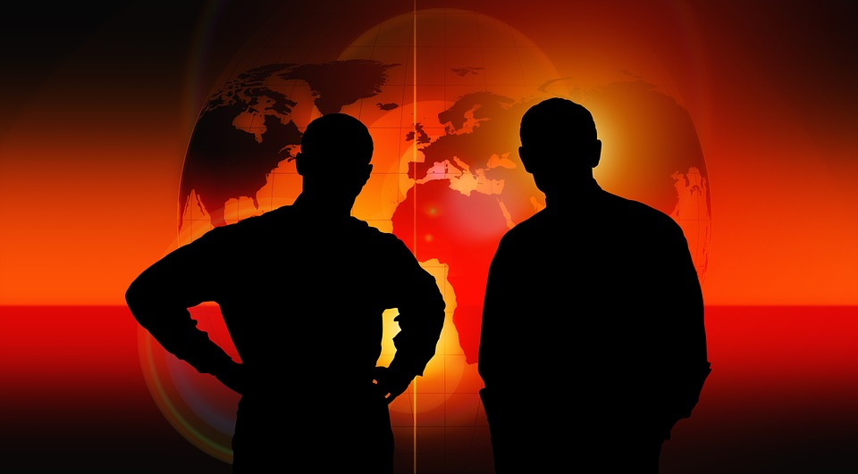shadow image of two man