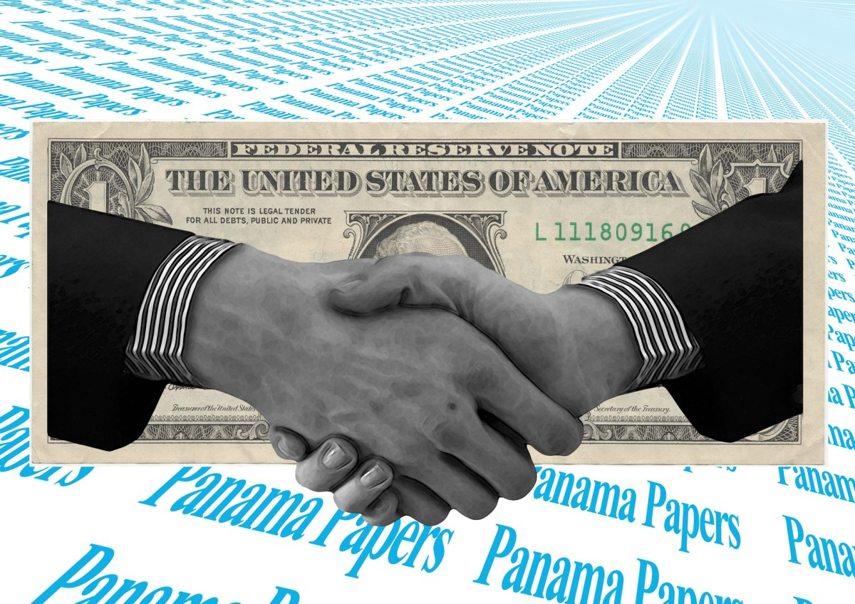 handshake in front of a dollar