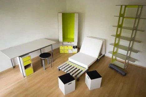 bedroom in a box   yanko design
