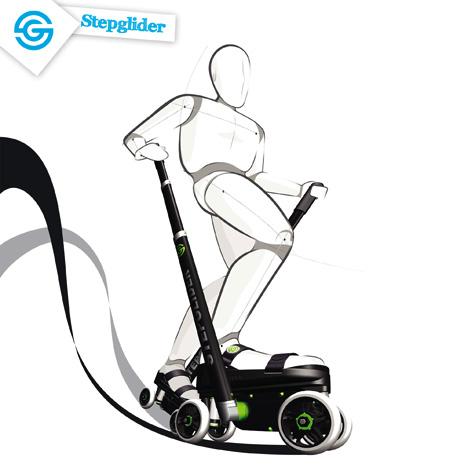 StepGlider Human Powered Vehicle by Thomas Van Halewyck