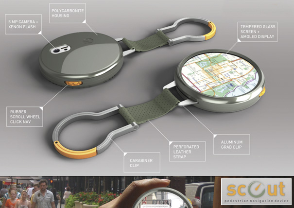 Scout Portable Pedestrian Navigation Device by Matt Marrocco