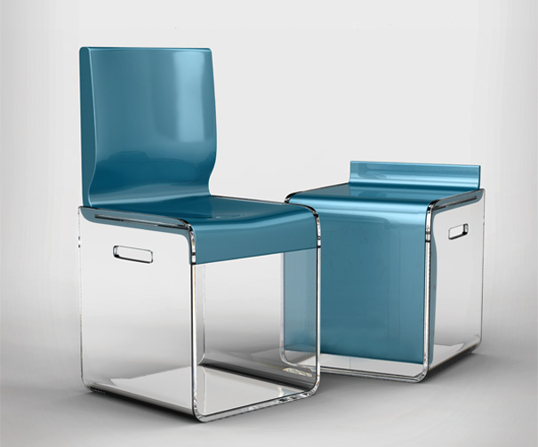chair in a bag with footrest troutman outlet boxy chairs spaces   yanko design