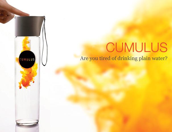 Cumulus Flavored Drink Dispensing Water Bottle by Kisun Kim