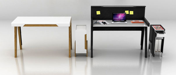 Buro – Home, Office Desk by Keith Xianrong Zheng for Habitat