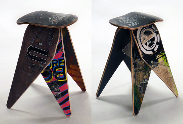 Skateboard Seating by deckstools » Yanko Design