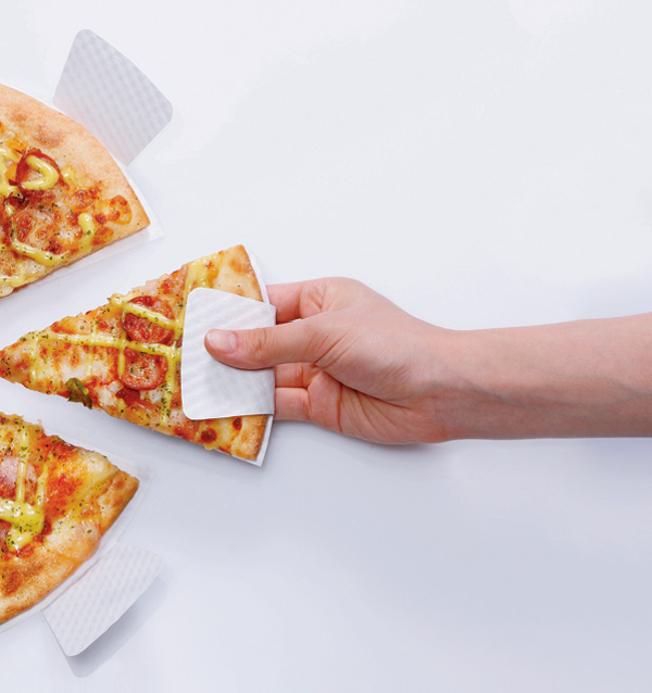 Der clevere Pizzakarton, um saubere Finger zu behalten beim Pizza essen