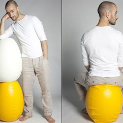Ergonomic Chair Kickstarter Wheelchair Yoga Pdf The Egg-cercise | Yanko Design