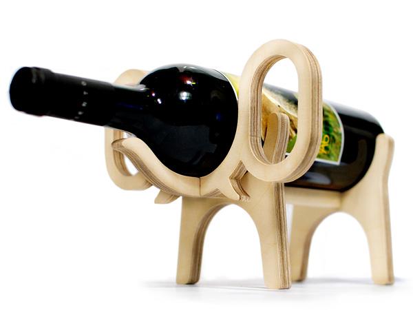 conte bleu animal wine bottle holder