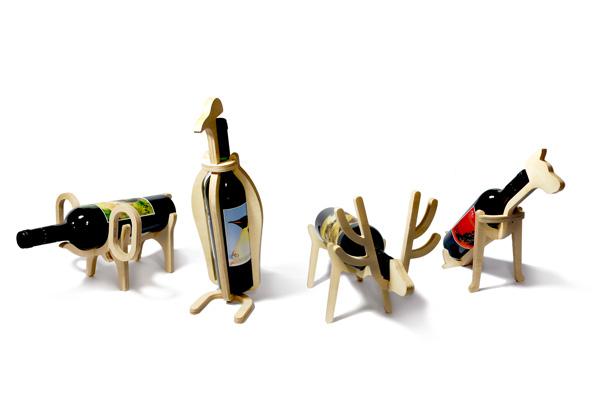 animal wine racks bottle holders