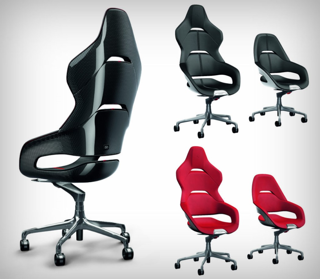 ferrari office chair black leather high back ferraris racy chairs yanko design