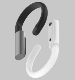 bone conduction headphones with built in lte connectivity the concept builds upon the observation that more and more key features of smartphones  [ 1050 x 1181 Pixel ]