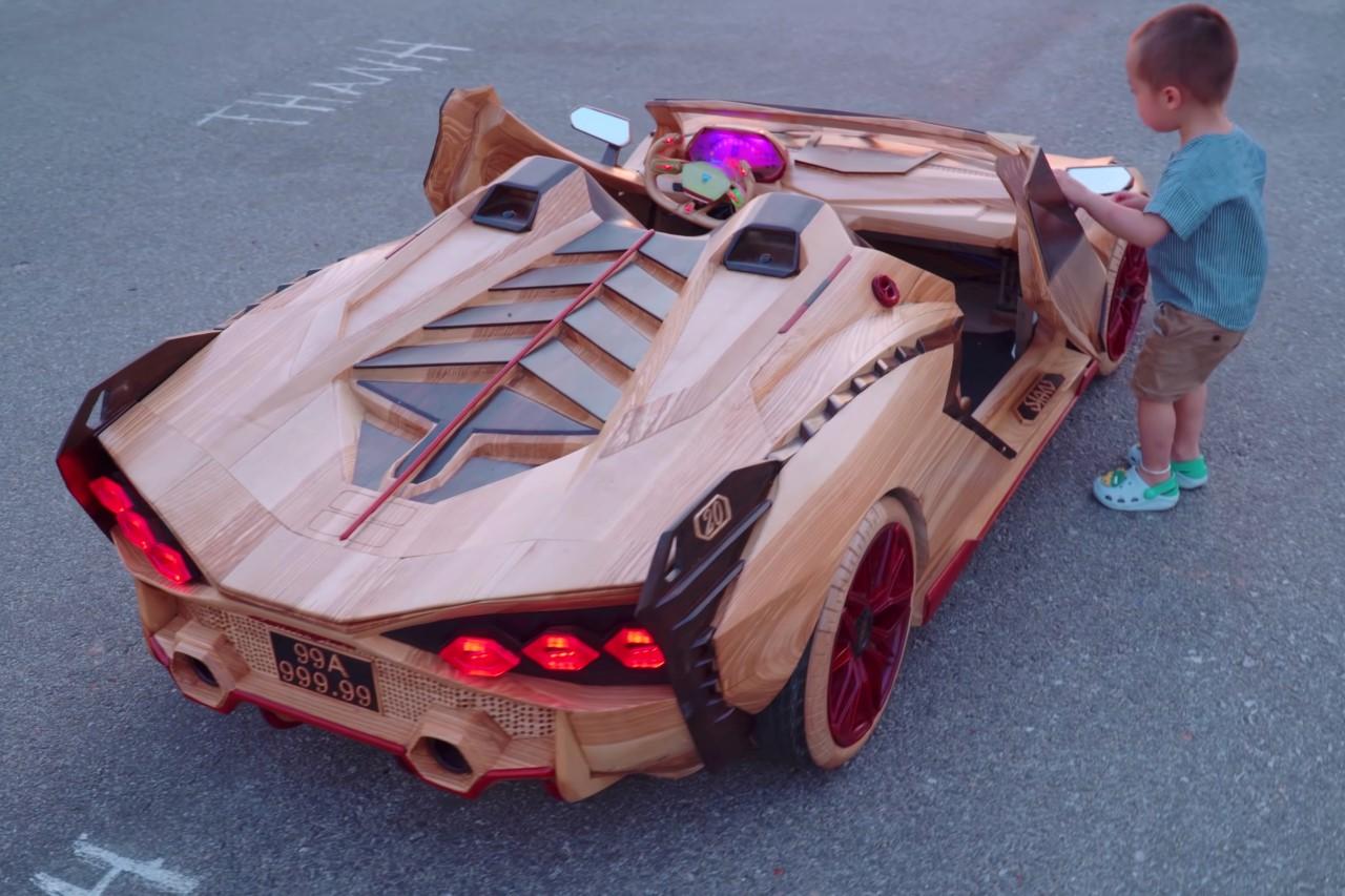 Wooden Lamborghini Sian Roadster by ND Woodworking Art