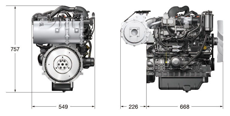 4TNV86CT Vertical Water-cooled Diesel Engines Products
