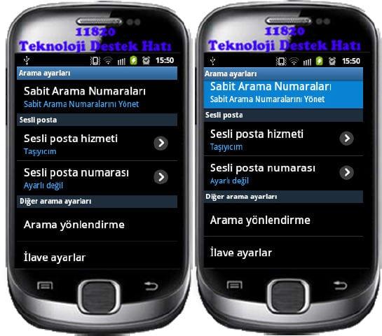 Android, Telefon, Arama, Ayarları,