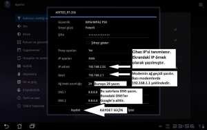 Android Tablet Manuel IP ve DNS Verme 06