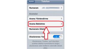 iPhone Arama Bekletme Nasıl Yapılır
