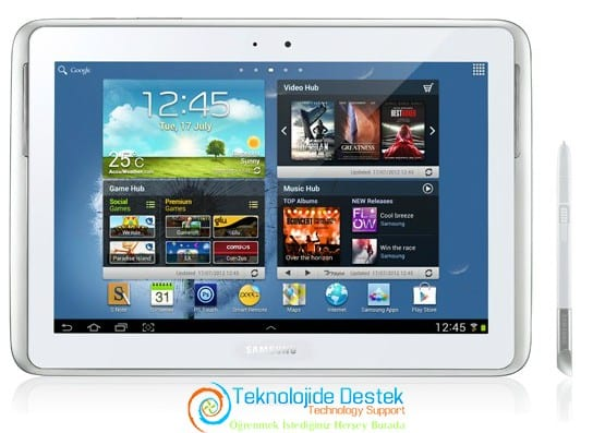 Samsung Galaxy Note N8000 Android 4.1.2 Jelly Bean Guncelleme