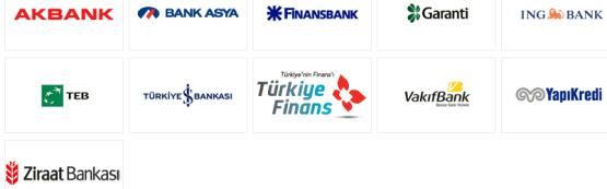 BKM Express Anlaşmalı Bankalar