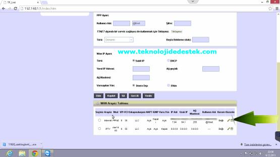 Tp-Link TD864W Kablosuz Modem Kurulumu (6)