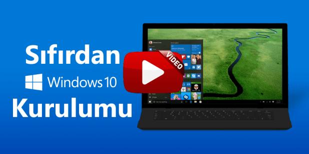 Windows 10 Kurulumu Video