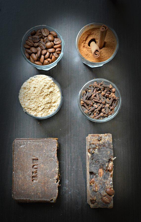 Savons BUTR aux grains de café